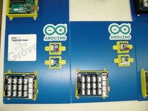 Grove sensor module with Arduino Uno and shield