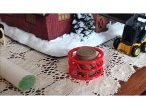 1/64 Scale, Round Bales, Round bale feeder.