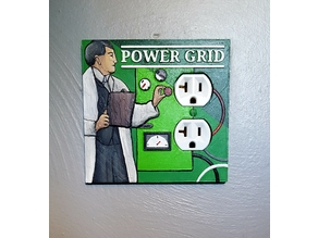 Power Grid Board Game Power Outlet Cover