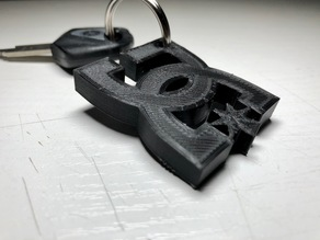 DC Shoes Keychain