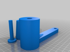 Custom crank handle for DIY drum sander