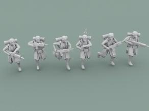 Legion Of Metal Infantry Running