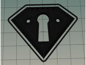 Escutcheon keyhole plate 14