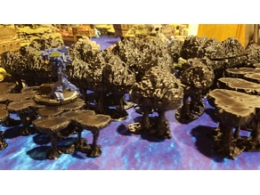 Tree Packs (pine and deciduous) with removable tops for Wargaming, BattleTech, Warhammer, etc.