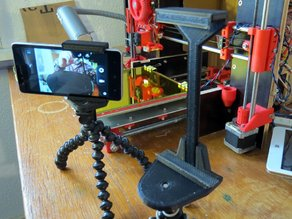 Adjustable tripod mount for tablet or smartphone