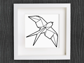 Customizable Origami Swallow