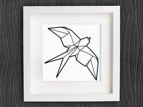 Customizable Origami Swallow