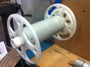 Printable Spool End for PVC Pipe