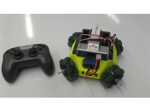 Vex 3D Printed Holonomic Drive Chassis