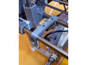 Prusa Mendel i2 modified x-axis endstop holder