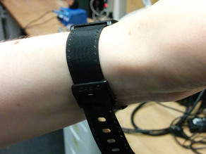 Watchband in lasercut textile