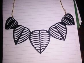 Necklace Leaf Design