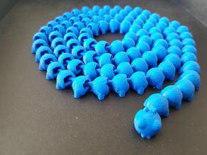 Caterpillar articulated, very long ( 100 pieces )