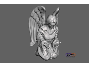 Contemplating Angel Sculpture (Statue 3D Scan)