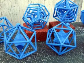Icosahedral Christmas Ornaments