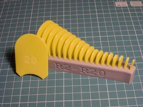 Radius measuring toolset