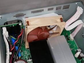 Rigol DP832 noisy stock fan replacement, fan duct 80mm to 92mm