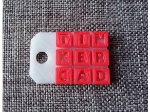 Tinkercad Keychain