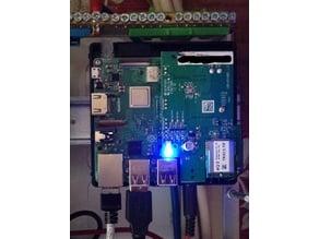 Halter Hutschiene für Gehäuse Raspberry RPI-RF-MOD