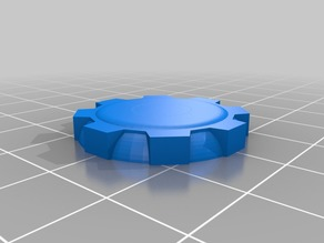 26mm Miniature Base Futuristic Gears Rounded