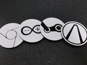 Coasters of Desktop Icons