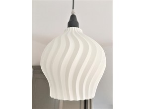 Curvy Lampshade E27 one layer thick
