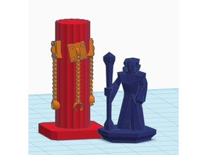 Torture Room - Chained Pillar (for 28mm RPG gaming)