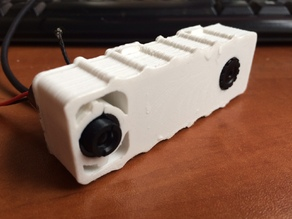 laser and camera case for simple laser rangefinder