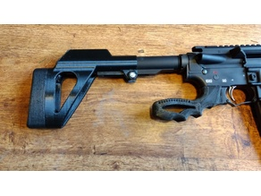 AR clamp on FIXED STOCK w/Recoil Pad