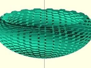 Bumpy Bowl with Banate CAD