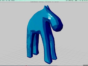 CreativeTools.se - Handyscan 3D - Laser scanned - Blue Cow-horse figure
