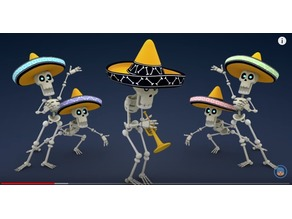 Mariachi Skeleton Miniature (Silly Dedication)