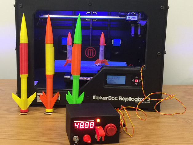 arduino rocket launcher for 3d printed rockets by