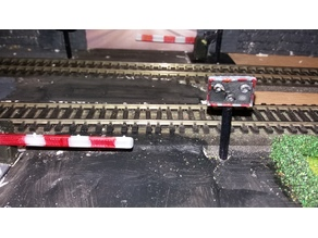OO/00 gauge level crossing light (uk)