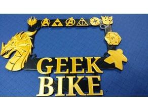 Motorcycle Geek Plate Frame