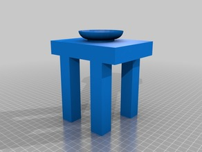 Basic table with vase