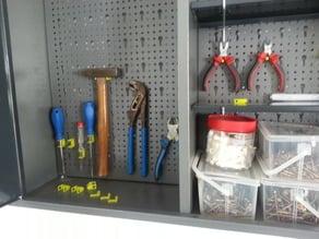 tool board hooks euro - Haken für Werkzeug für Lochwand mit Euro Lochung