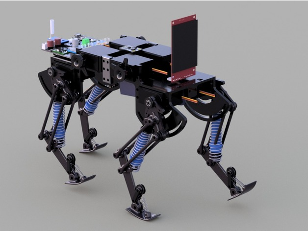 image relating to 3d Printable Robot referred to as 3D released robotic cat as a result of Hartvik - Thingiverse