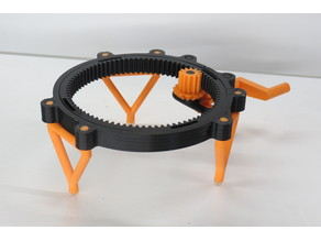 Fully 3D-printable turntable