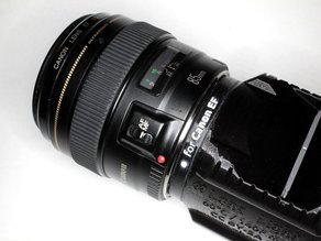 Canon EF lens adapter for GuerillaBeam projectors