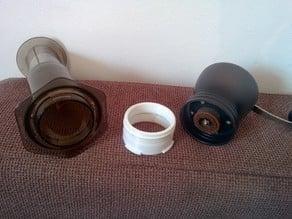 Aeropress Hario/Tiamo coffe grinder adapter