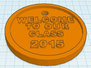 Welcome Medal 2015 School Year