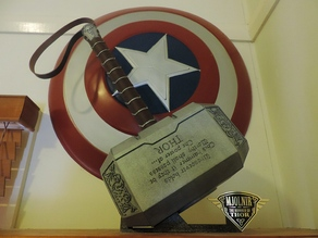 TzirBlake's Mjolnir (Thor's Hammer) Base and Stand for BrotherFoster Data Plaque