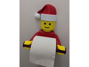 Santa Hat for Lego Man Toilet Paper Holder - vvk187