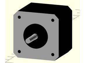 17HS13-0404D NEMA 17 Dual-Shaft Stepper