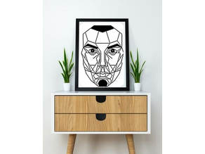 Face wall Sculpture 2D