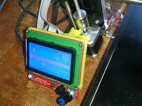 LCD display mount for reprap discount full lcd display