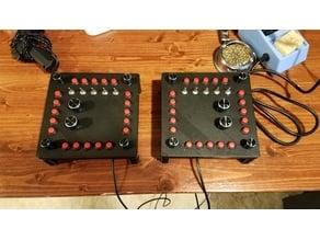flight sim MFD button array controller
