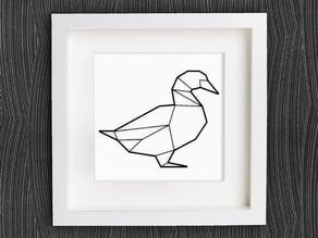 Customizable Origami Duck