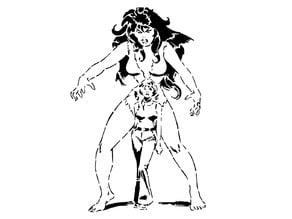 She Hulk stencil 2